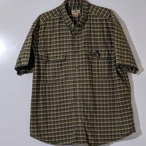 Woolrich Short Sleeve Button Up 2XL 100% Cotton